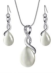 cheap -Women's Opal Drop Earrings Necklace Elegant Earrings Jewelry Beige / Light Black / Pink For Festival 1 set