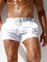 abordables -Homme Taille EU / US Blanc Noir Jambe de garçon Bas Maillots de Bain - Couleur Pleine L XL XXL Blanc