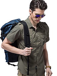 cheap -Men's Hiking Shirt / Button Down Shirts Short Sleeve Outdoor Sunscreen Breathable Quick Dry Sweat-wicking Shirt Top Autumn / Fall Spring Polester / Cotton Blend 100% Cotton Traveling Indoor Army