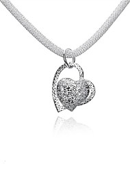 cheap -Women's Pendant Necklace Chain Necklace Necklace Classic Heart Classic Trendy Romantic Fashion Silver Plated Silver 46 cm Necklace Jewelry 1pc For Gift Daily Evening Party Date Office & Career
