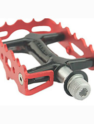 cheap -Mountain Bike Pedals Flat & Platform Pedals Sealed Bearing Anti-Slip Durable 3 Bearing Aluminum Alloy for Cycling Bicycle Road Bike Mountain Bike MTB Recreational Cycling Red