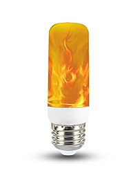 cheap -1pc 3 W LED Globe Bulbs 150 lm E26 / E27 T 40 LED Beads SMD 2835 Christmas Wedding Decoration Flame Flickering 3D Firework Warm Yellow 85-265 V / RoHS / FCC