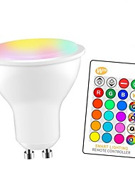 cheap -1pc 5 W LED Smart Bulbs 350 lm GU10 E26 / E27 3 LED Beads SMD 5050 Smart Dimmable Party RGBW 85-265 V / RoHS / CE Certified