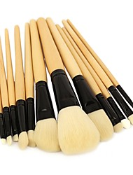 cheap -Professional Makeup Brushes 12pcs Professional Soft Full Coverage Synthetic Artificial Fibre Brush Wooden / Bamboo for Eyeliner Brush Blush Brush Foundation Brush Makeup Brush Lip Brush Lash Brush