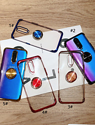 cheap -Case For Huawei Huawei P20 / Huawei P20 Pro / Huawei P20 lite Ring Holder / Ultra-thin / Transparent Back Cover Solid Colored Soft TPU / P10 Lite