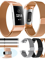 cheap -Replacement Watch Band for Fitbit Charge 3 Fitbit Milanese Loop Stainless Steel Wrist Strap Small /Large for Women / Men