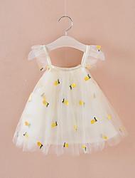 cheap -Baby Girls' Boho Fruit Embroidered / Lace Trims Sleeveless Above Knee Dress Blushing Pink / Toddler