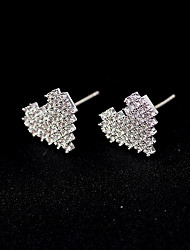 cheap -Women's Stud Earrings Cute Imitation Diamond Earrings Jewelry Silver For Wedding Party Engagement Gift Valentine 1 Pair
