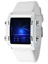 cheap -Couple's Sport Watch Quartz Silicone Black / White Alarm Luminous Digital Casual Fashion - White Black One Year Battery Life