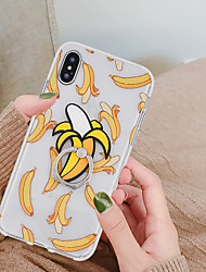 cheap -Case For Apple iPhone XS / iPhone XR / iPhone XS Max Ring Holder / Pattern Back Cover Food / Fruit Soft TPU