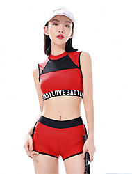 cheap -MEIYIER Women's Two Piece Swimsuit Elastane Swimwear Quick Dry Sleeveless Swimming Water Sports Patchwork Solid Colored Summer / High Elasticity