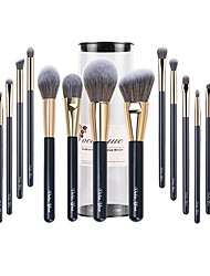 cheap -Professional Makeup Brushes 15pcs Full Coverage Synthetic Artificial Fibre Brush Wooden / Bamboo for Eyeliner Brush Blush Brush Foundation Brush Makeup Brush Lip Brush Lash Brush Eyebrow Brush