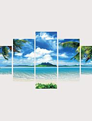 Недорогие -С картинкой Роликовые холсты Отпечатки на холсте - Природа Фото Современный Modern 5 панелей Репродукции