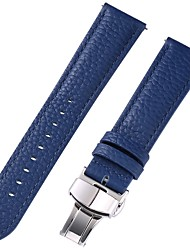 cheap -Genuine Leather / Leather / Calf Hair Watch Band Blue 17cm / 6.69 Inches / 18cm / 7 Inches / 19cm / 7.48 Inches 1cm / 0.39 Inches / 1.2cm / 0.47 Inches / 1.3cm / 0.5 Inches