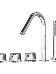 cheap -Bathtub Faucet Chrome Roman Tub Ceramic Valve Bath Shower Mixer Taps
