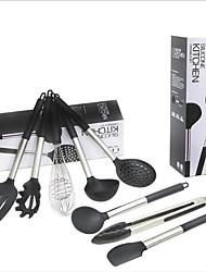 abordables -Silicone Acier Inoxydable Ustensiles de cuisine Salle à manger et Cuisine Multifonction Outils de cuisine Multifonction 1 set