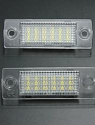 cheap -2pcs Car Light Bulbs 18 LED License Plate Lights For Volkswagen Touran / Passat / Jetta 2001 / 2002 / 2003