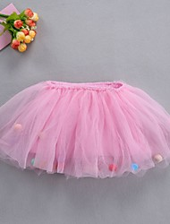 Недорогие -Нижняя юбка пачка Под юбкой 1950-е года Серый Желтый Розовый Нижняя юбка / Детские / Кринолин