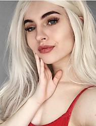 cheap -Synthetic Lace Front Wig Curly Layered Haircut Lace Front Wig Medium Length Platinum Blonde Synthetic Hair 26 inch Women's Women Youth White
