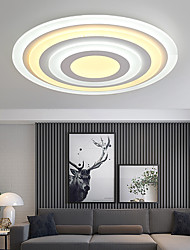 cheap -2-Light 50 cm LED Tri-color Flush Mount Lights Metal Acrylic Bowl Geometrical Painted Finishes LED Modern 110-120V 220-240V