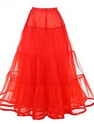 cheap -Petticoat Hoop Skirt Tutu Under Skirt 1950s Pink Fuchsia Ivory Petticoat / Crinoline