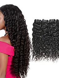 Недорогие -4 Связки Бразильские волосы Волнистые Не подвергавшиеся окрашиванию 200 g Человека ткет Волосы Пучок волос One Pack Solution 8-28inch Естественный цвет Ткет человеческих волос