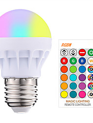 cheap -1pc 3W 200-250LM RGBW E27 Led Bulb LED RGB LED Light Bulb with IR Remote Control Pop Lamp Color Changing 16 colors changing LED Bulbs Tubes AC85-265V