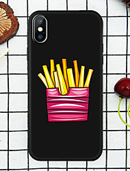 cheap -Case For Apple iPhone XS / iPhone XR / iPhone XS Max Pattern Back Cover Food Soft TPU