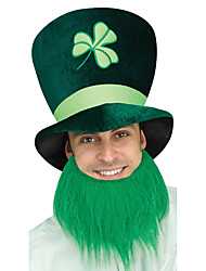 cheap -Peter Pan Moustache Adults' Green Fabric Party Cosplay Accessories Halloween / Carnival / Masquerade Costumes / St Patricks Day