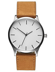 cheap -Men's Wrist Watch Analog Quartz Casual Casual Watch Large Dial / One Year / Leather