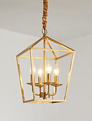 abordables -jlylite 4-cercle cercle bougie lustre lumière ambiante métal galvanisé style 110-120v / 220-240v