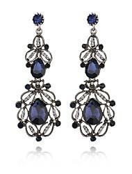 cheap -Women's Crystal Dangle Earrings Classic Drop Luxury Dangling Elegant Vintage Earrings Jewelry White / Blue For Party Ceremony Festival 1 Pair