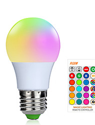 cheap -1pc 3 W LED Smart Bulbs 200-250 lm E26 / E27 1 LED Beads SMD 5050 Smart Dimmable Remote-Controlled RGBW 85-265 V / RoHS / FCC