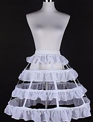 cheap -Petticoat Hoop Skirt Tutu Under Skirt 1950s White Black Petticoat / Crinoline