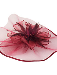 cheap -Women's Ladies Tiaras Fascinators For Wedding Party / Evening Prom Princess Feather Fabric White Black Fuchsia