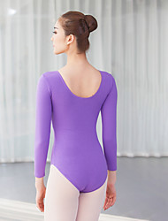 cheap -Ballet Leotards Women's Training / Performance Cotton / Elastane Ruching Long Sleeve Leotard / Onesie