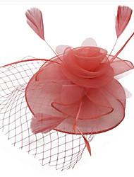 cheap -Women's Ladies Vintage Party Elegant Feather Fabric Tiaras Wedding Party / Evening - Floral