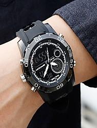 cheap -Men's Sport Watch Digital Black Water Resistant / Waterproof Calendar / date / day Chronograph Analog - Digital Casual Fashion - Silver Red Blue