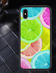 cheap -Case For Apple iPhone XR / iPhone X Pattern Back Cover Fruit Soft TPU