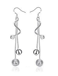 cheap -Women's Drop Earrings Beads Ball Trendy Fashion Cute Elegant Silver Plated Earrings Jewelry Silver For Birthday Engagement Gift Daily Date 1 Pair