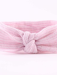 cheap -Infant Unisex Basic / Sweet Striped Bow Rayon Hair Accessories White / Pink / Rainbow One-Size