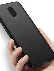 Недорогие -Кейс для Назначение OnePlus OnePlus 6 / One Plus 6T / One Plus 5 Ультратонкий Кейс на заднюю панель Однотонный Твердый ПК