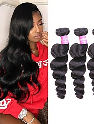 cheap -4 Bundles Brazilian Hair Loose Wave Remy Human Hair Gifts Cosplay Suits Headpiece 8-28inch Natural Color Human Hair Weaves Waterfall Safety Fashionable Design Human Hair Extensions