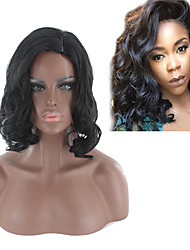 cheap -Synthetic Wig Body Wave Bob Wig Short Black#1B Synthetic Hair 14INCH Women's Adjustable Heat Resistant Classic Black