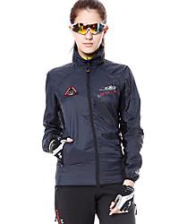 cheap -Mountainpeak Women's Long Sleeve Cycling Jacket Winter Fleece Dark Grey Plus Size Bike Windbreaker Top Mountain Bike MTB Road Bike Cycling Breathable Sports Clothing Apparel / Stretchy