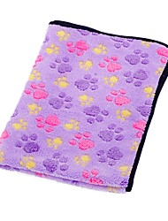 cheap -Dogs Cats Pets Mattress Pad Car Seat Cover Towels Bed Blankets Blankets Fabric Portable Warm Foldable Geometric Footprint / Paw Fruit Purple Brown Pink