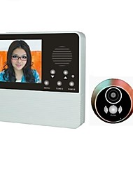 cheap -VIDEO Door Phone Systems 3.2inch View With Door Camera One to One video doorphone