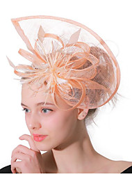 cheap -Women's Ladies Tiaras Fascinators For Wedding Party / Evening Prom Princess Feather Blushing Pink