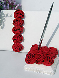 cheap -Wedding Guest Book / Pen Set 53 Flower Nonwovens