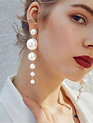 cheap -Women's Pearl Earrings Classic Love Statement Elegant Romantic Imitation Pearl Earrings Jewelry Beige / White For Party Daily Holiday 1 Pair